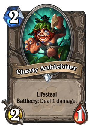 Cheaty Anklebiter Card