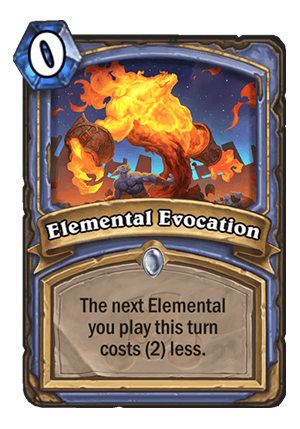Elemental Evocation Card