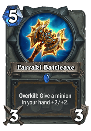 Farraki Battleaxe Card