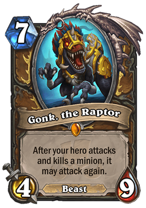 Gonk, the Raptor Card