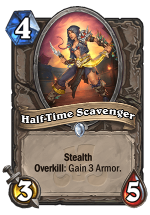 Half-Time Scavenger Card