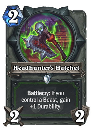 Headhunter's Hatchet Card