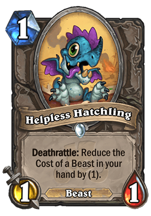 Helpless Hatchling Card
