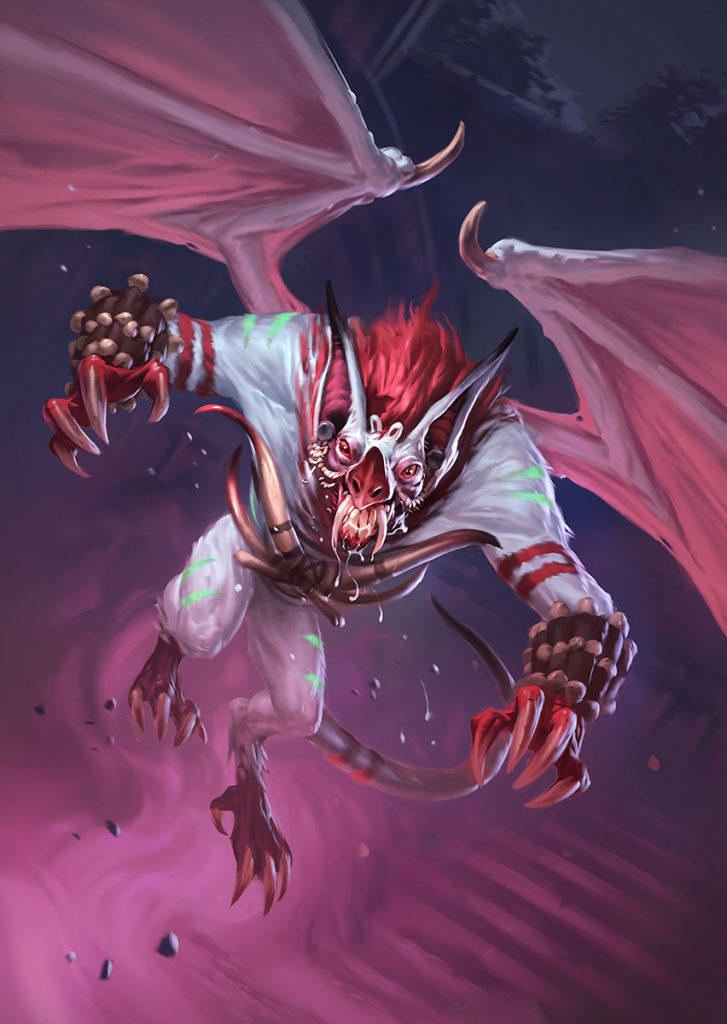 Hir'eek, the Bat Full Art