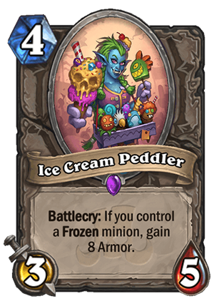 Ice Cream Peddler Card