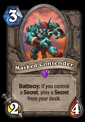 Masked Contender Card