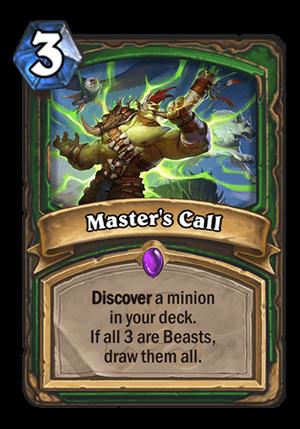Master's Call Card