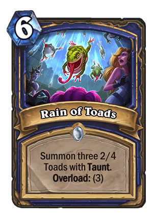 Rain of Toads Card
