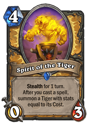 Spirit of the Tiger Card
