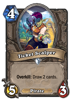 Ticket Scalper Card