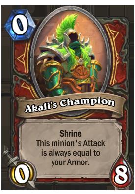 Akali's Champion Card
