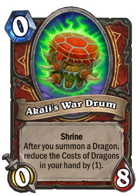 Akali's War Drum Card