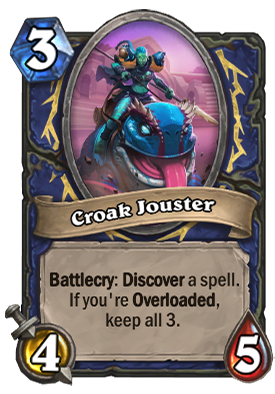Croak Jouster Card