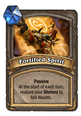 Foritifed Spirit Card