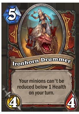 Ironhorn Drummer Card