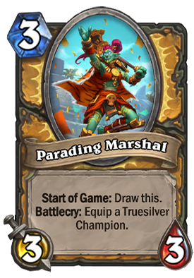 Parading Marshal Card