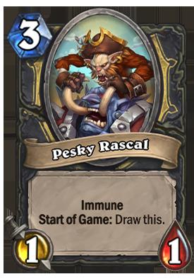 Pesky Rascal Card