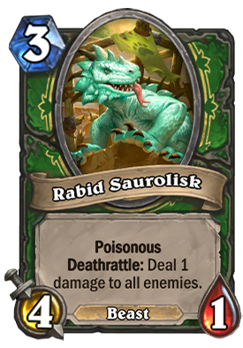Rabid Saurolisk Card