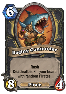 Raging Contender Card