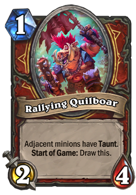 Rallying Quilboar Card