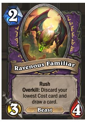 Ravenous Familiar Card