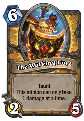 The Walking Fort Card