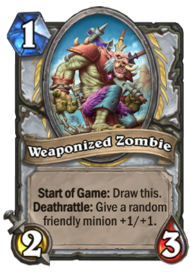 Weaponized Zombie Card