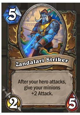 Zandalari Striker Card
