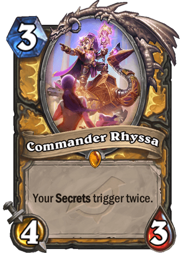 Commander Rhyssa - Hearthstone Card - Hearthstone Top Decks