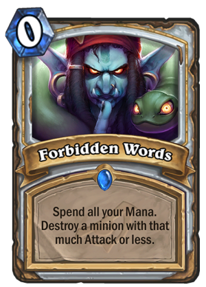 Forbidden Words Card