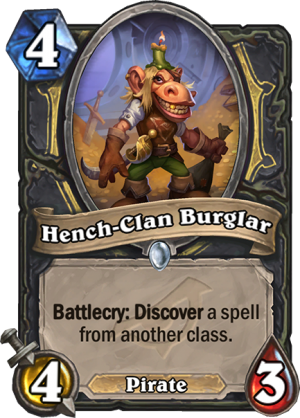 Hench-Clan Burglar Card