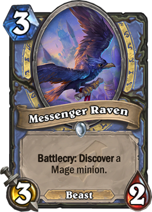 Messenger Raven Card