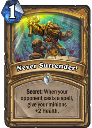Never Surrender! Card