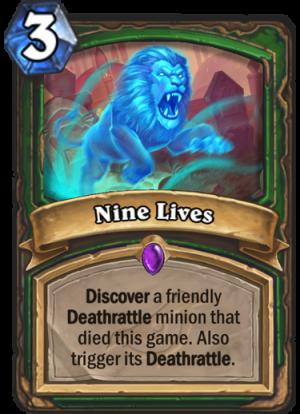 Nine Lives Card
