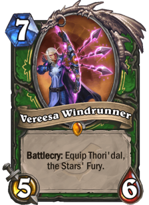 Vereesa Windrunner Card