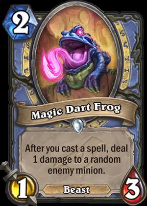 Magic Dart Frog Card