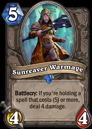 Sunreaver Warmage Card