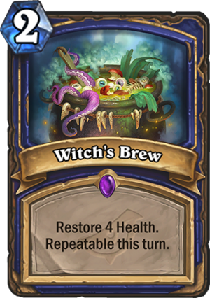 Witch's Brew Card