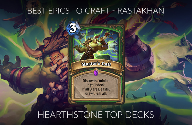 Hearthstone Epic Crafting Guide (Standard) - Rise of Shadows