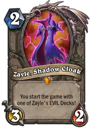 Zayle, Shadow Cloak Card