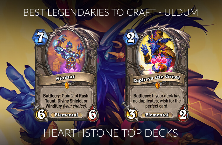 Hearthstone Legendary Crafting Guide (Standard) - Saviors of