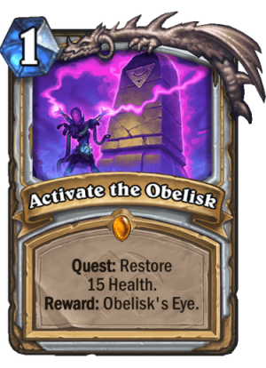 Activate the Obelisk Card