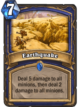 Earthquake Card
