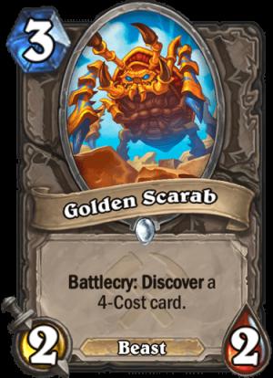Golden Scarab Card