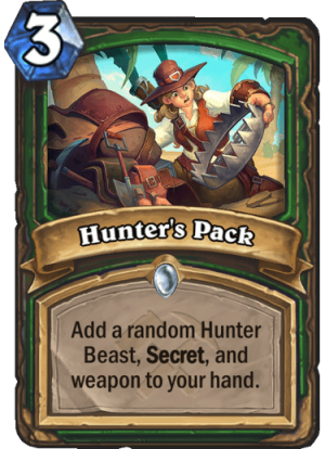 Hunter's Pack Card