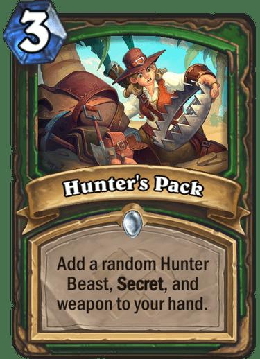 Kết quả hình ảnh cho hunter's pack hearthstone