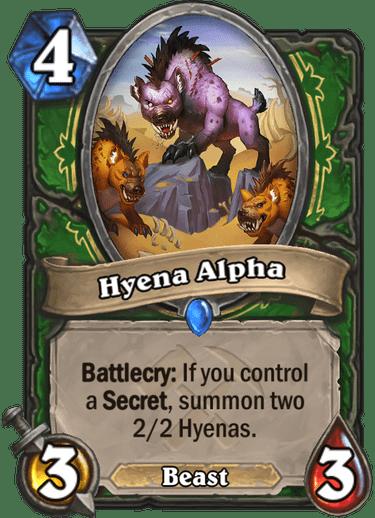 Kết quả hình ảnh cho hyena alpha hearthstone