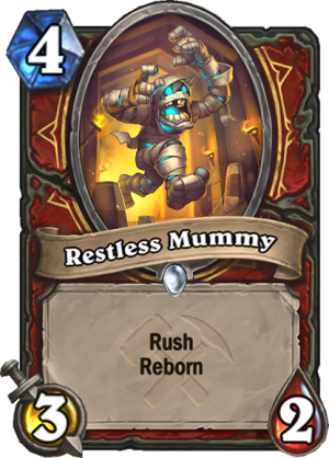 Restless Mummy Card