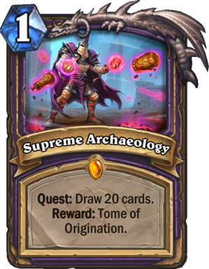 Supreme Archaeology Card