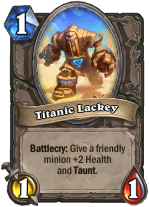 Titanic Lackey Card